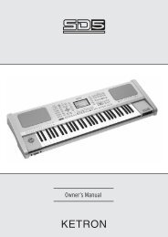 Manual for the SD5 - Ketron US