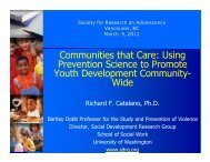 Communities that Care: Using Prevention Science to Promote Youth ...