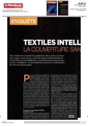 06/07/2013 : Le moniteur des pharmacies - Textiles ... - UP-tex