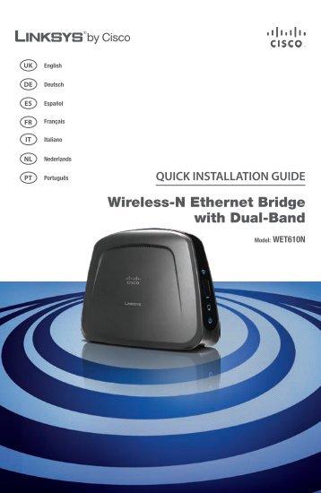 Linksys WET610N Wireless-N Ethernet Bridge with Dual-Band - Ipland