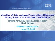 Modeling of Gate Leakage, Floating Body Effect, and History