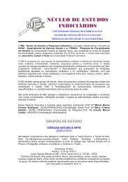 núcleo de estudos indiciários - Sociologia e História - Universidade ...