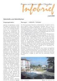 Bahnhöfe und Bahnflächen - Regierung der Oberpfalz - Bayern