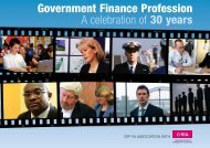 A Celebration of 30 Years - a history of - Government Finance
