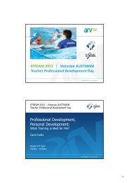 Professional Development, Personal Development - Aquatics ...