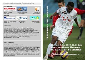 FC ZÜRICH - FC AARAU - FC Dübendorf