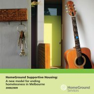 HomeGround Supportive Housing - HomeGround Services
