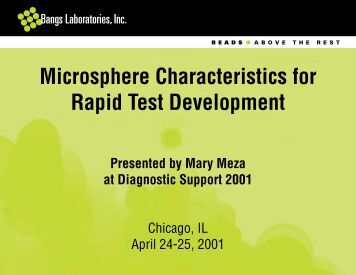 Microsphere Characteristics for Rapid Test Development - Bangs ...