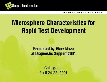 Microsphere Characteristics for Rapid Test Development - Bangs ...