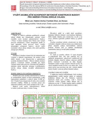 využití akumula n schopnosti betonové konstrukce budovy pro ...