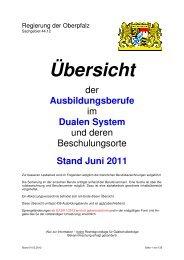 Verzeichnis der Schulorte - Regierung der Oberpfalz