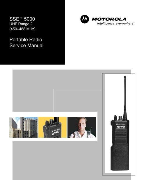 SSE 5000 UHF Range 2 Portable Radio Service Manual