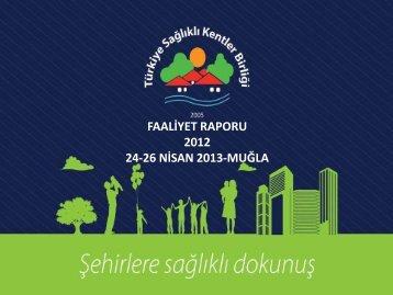 PowerPoint Sunusu - Türkiye Sağlıklı Kentler Birliği