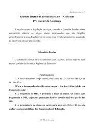 Estatuto Interno da Escola Básica do 1º Ciclo com Pré-Escolar da ...