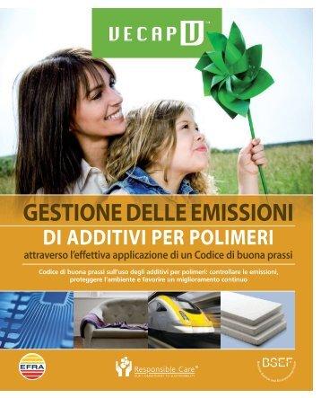 GESTIONE DELLE EMISSIONI DI ADDITIVI PER ... - VECAP