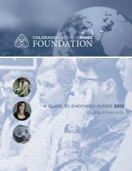 how to set up an endowed fund - Give To Mines - Colorado School ...