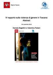 IV rapporto sulla violenza di genere in Toscana Abstract