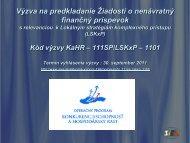 Prezentácia k Výzve .pdf - Slovenská inovačná a energetická agentúra