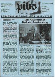 Dem Staatspersonal Dank und Anerkennung - Regierungsrat ...
