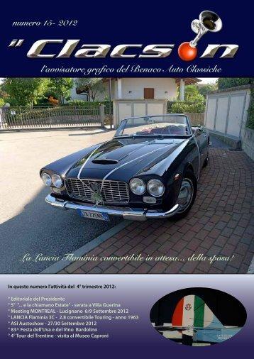 edizione n° 15 anno 2012 - Benaco Auto Classiche