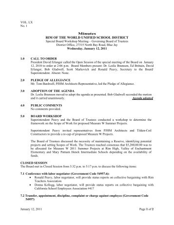revised Approved Minutes 1-12-11.pdf - Rim of the World USD