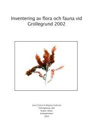 Inventering av flora och fauna vid Grollegrund 2002