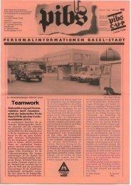 Teamwork - Regierungsrat - Kanton Basel-Stadt