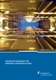 HELMHOLTZ-ROADMAP FOR RESEARCH INFRASTRUCTURES