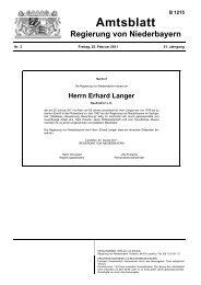 Herrn Erhard Langer - Die Regierung von Niederbayern