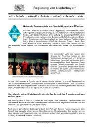 Schule - aktuell - Schule - Die Regierung von Niederbayern