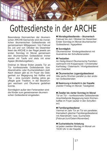 zum Kalender (PDF) - in der ARCHE