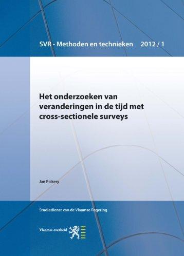 2012-04-17-mt2012-1-cross-sectionele-surveys - Vlaanderen.be