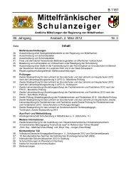 Schulanzeiger 03 2012 - Regierung von Mittelfranken - Bayern