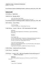THIRD ISTANBUL SYMPOSIUM PROGRAM October 15-16, 2010 ...