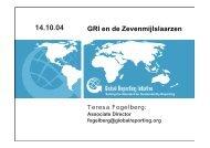 Teresa Fogelberg, Global Reporting Initiative (GRI) - Duurzaam ...