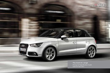 A1 pricing and specification guide, version 2.3, 1 ... - Audi on Demand