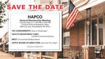 General Membership Meeting - Hapco