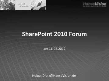 Employee Self Services und SAP Integration - HanseVision Blog
