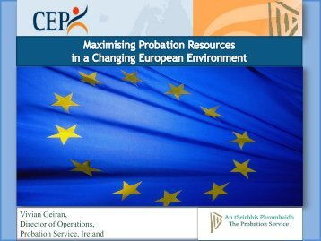 Probation Resources in Modern Times - CEP, the European ...