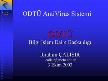 ODTÜ AntiVirüs Sistemi - Ulakbim