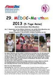 29. MÉDOC-Marathon 2013 - REISEZEIT Tourismus GmbH