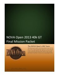 2013 WARHAMMER 40K GT Final Mission Packet - NOVA Open