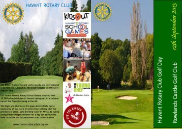 Download Leaflet - Havant Rotary Club