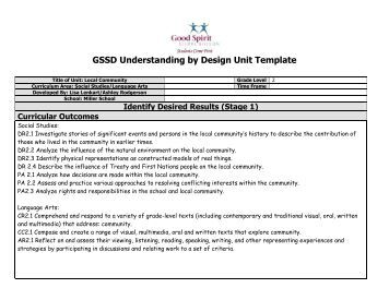 Understanding By Design Unit Template Montana Department