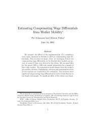 Estimating Compensating Wage Differentials from ... - S-WoPEc