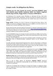 Compte rendu : les délégations des Maires - Cabourg