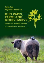 QUO VADIS, FARMLAND BIODIVERSITY?