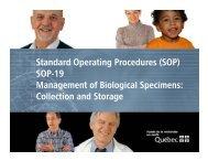 Standard Operating Procedures - SOP-19