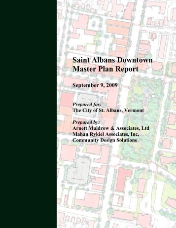 Saint Albans Downtown Master Plan Report - City of Saint Albans