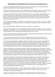 confira as resoluções do encontro - Sindicato dos Bancários do ...